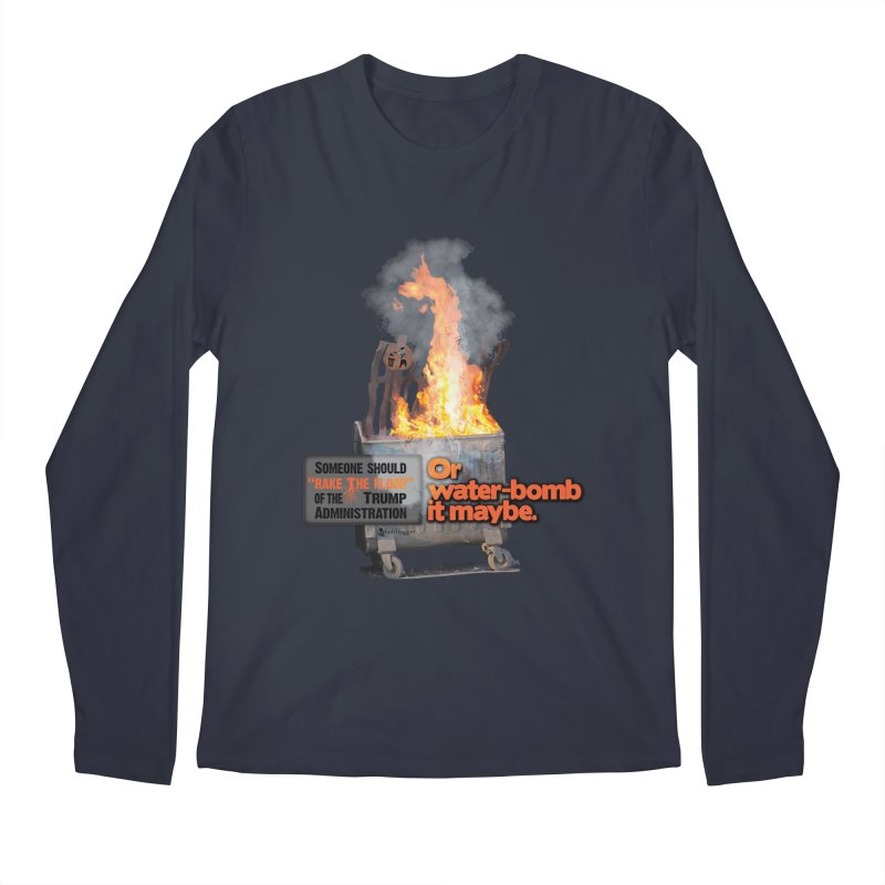 Dumpster Fire! Men's Regular Longsleeve T-Shirt by Lefthugger