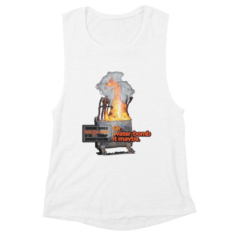 Dumpster Fire! Women's Tank by Lefthugger
