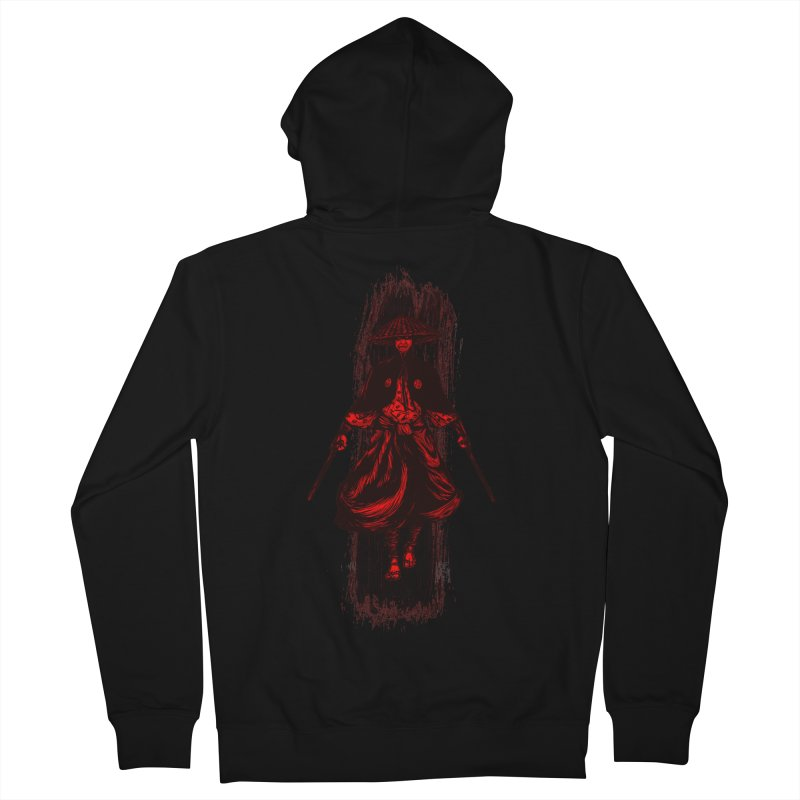 Kills with No Knives (Flying Guillotine) - Red Men's Zip-Up Hoody by legendaryweapons's Artist Shop