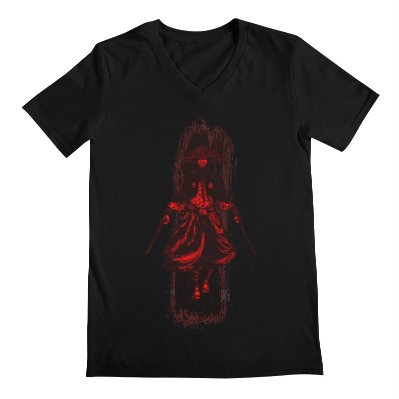 Kills with No Knives (Flying Guillotine) - Red Men's V-Neck by legendaryweapons's Artist Shop