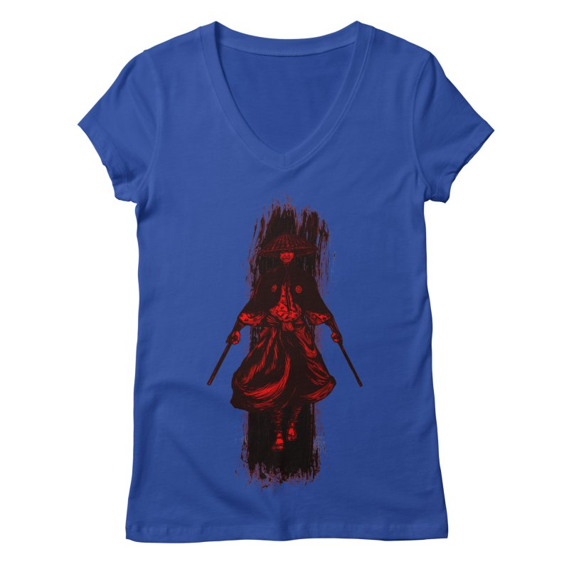 Kills with No Knives (Flying Guillotine) - Red Women's V-Neck by legendaryweapons's Artist Shop