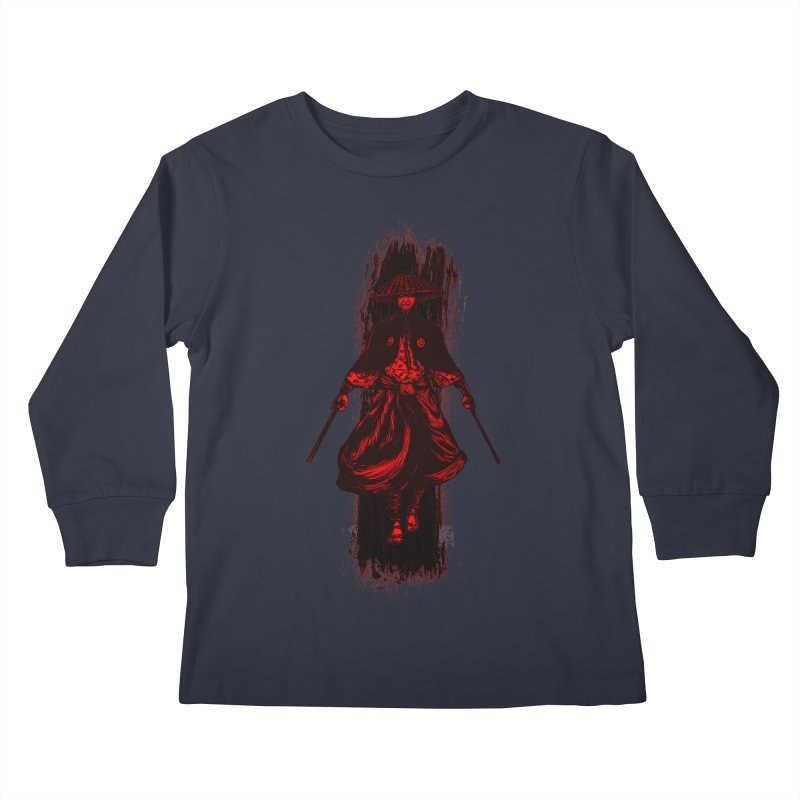 Kills with No Knives (Flying Guillotine) - Red Kids Longsleeve T-Shirt by legendaryweapons's Artist Shop