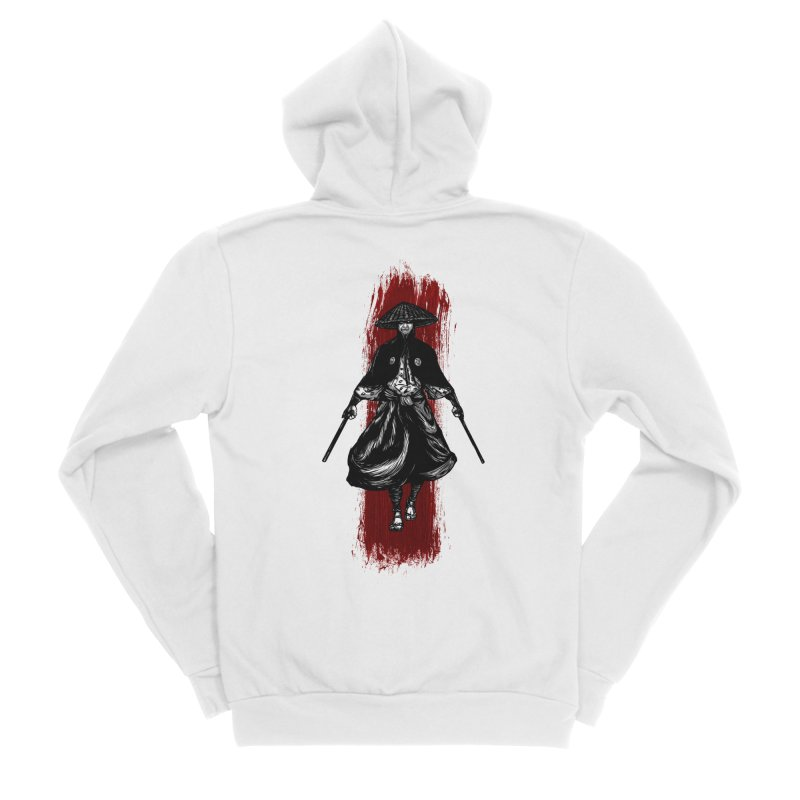 Kills with No Knives (Flying Guillotine) - White Men's Zip-Up Hoody by legendaryweapons's Artist Shop