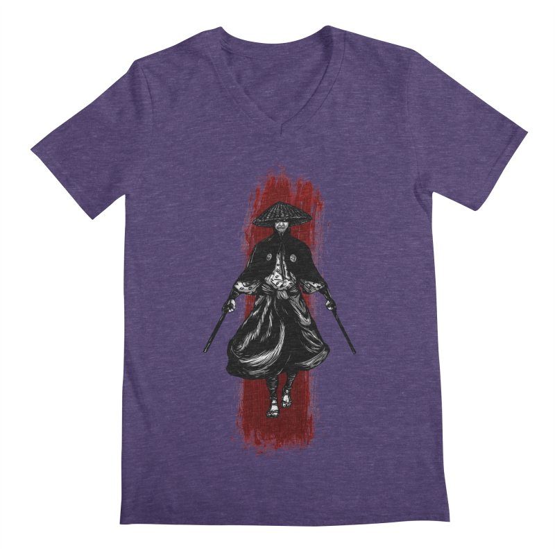 Kills with No Knives (Flying Guillotine) - White Men's V-Neck by legendaryweapons's Artist Shop