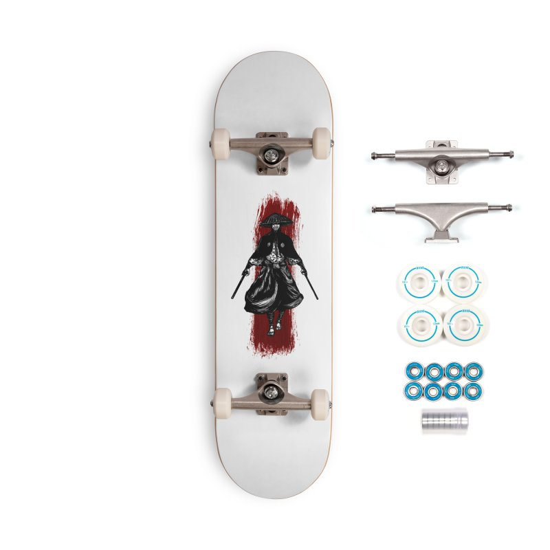 Kills with No Knives (Flying Guillotine) - White Accessories Skateboard by legendaryweapons's Artist Shop