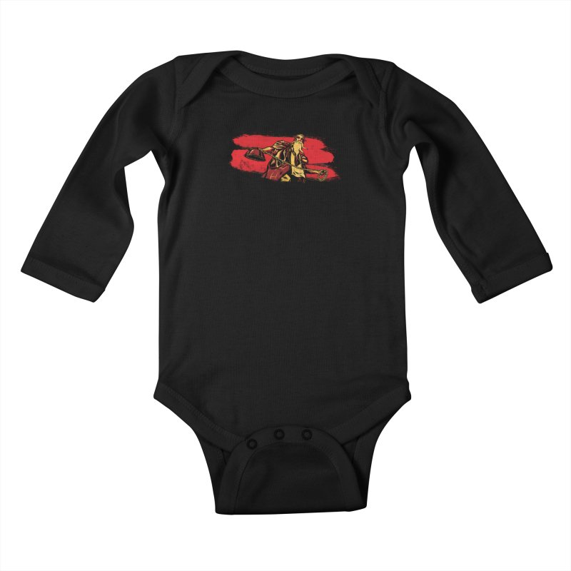 The Master of the Flying Guillotine Kids Baby Longsleeve Bodysuit by legendaryweapons's Artist Shop