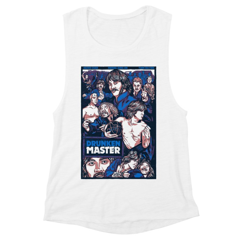 Drunken Master - Jackie Chan Women's Muscle Tank by legendaryweapons's Artist Shop