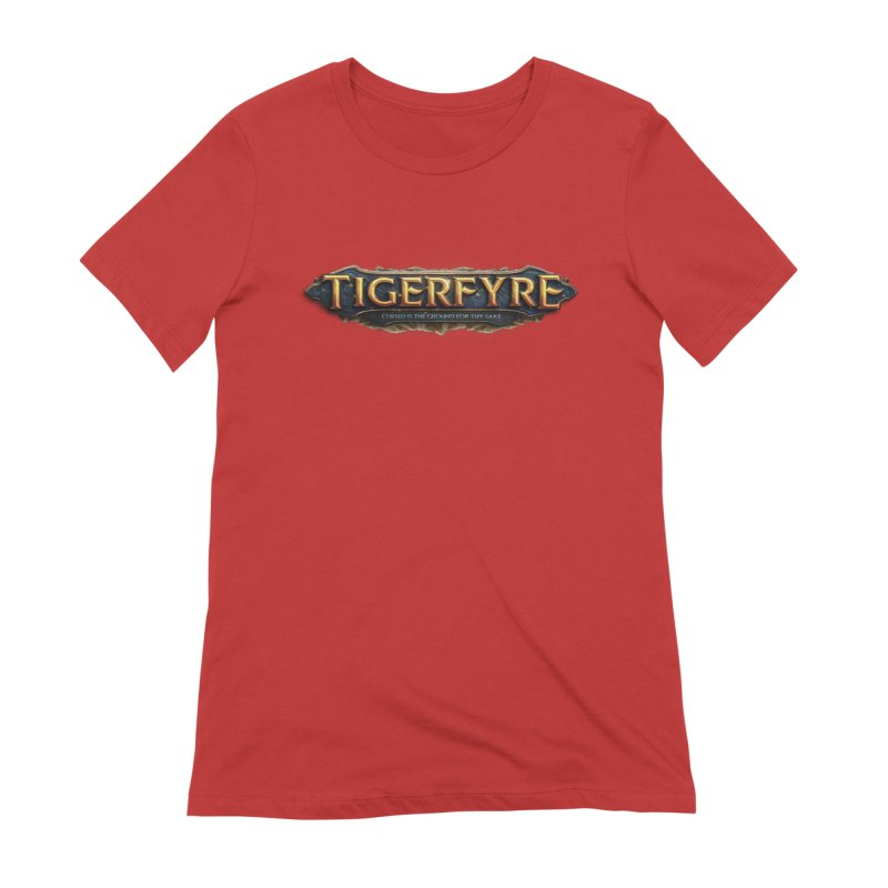 Tigerfyre - Cursed Is the Ground for Thy Sake Merch Women's Extra Soft T-Shirt by Legend Studio Shop