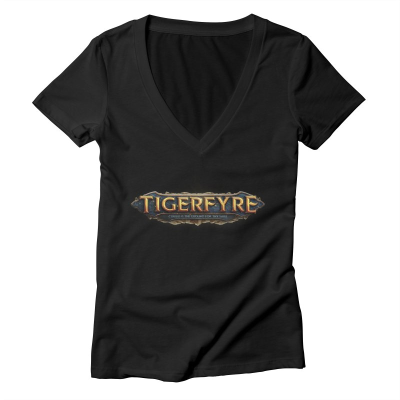 Tigerfyre - Cursed Is the Ground for Thy Sake Merch Women's Deep V-Neck V-Neck by Legend Studio Shop