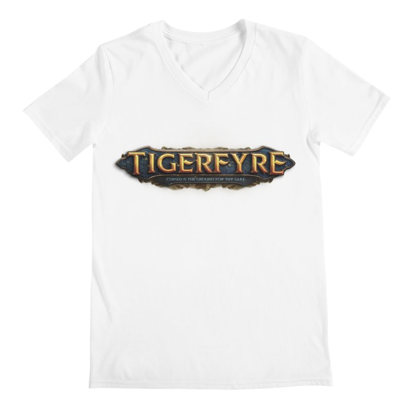 Tigerfyre - Cursed Is the Ground for Thy Sake Merch Men's V-Neck by Legend Studio Shop