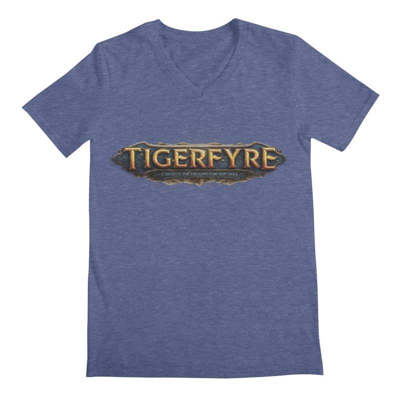 Tigerfyre - Cursed Is the Ground for Thy Sake Merch Men's Regular V-Neck by Legend Studio Shop