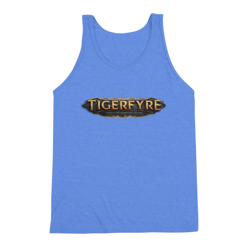 Tigerfyre - Cursed Is the Ground for Thy Sake Merch Men's Triblend Tank by Legend Studio Shop