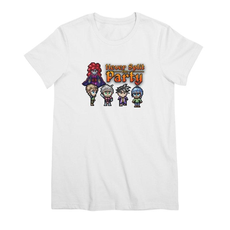 Never Split the Party Merch Women's Premium T-Shirt by Legend Studio Shop