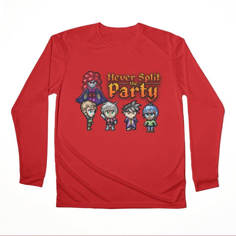 Never Split the Party Merch Women's Performance Unisex Longsleeve T-Shirt by Legend Studio Shop