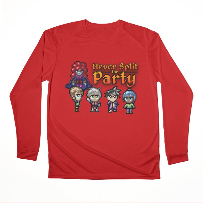 Never Split the Party Merch Men's Performance Longsleeve T-Shirt by Legend Studio Shop