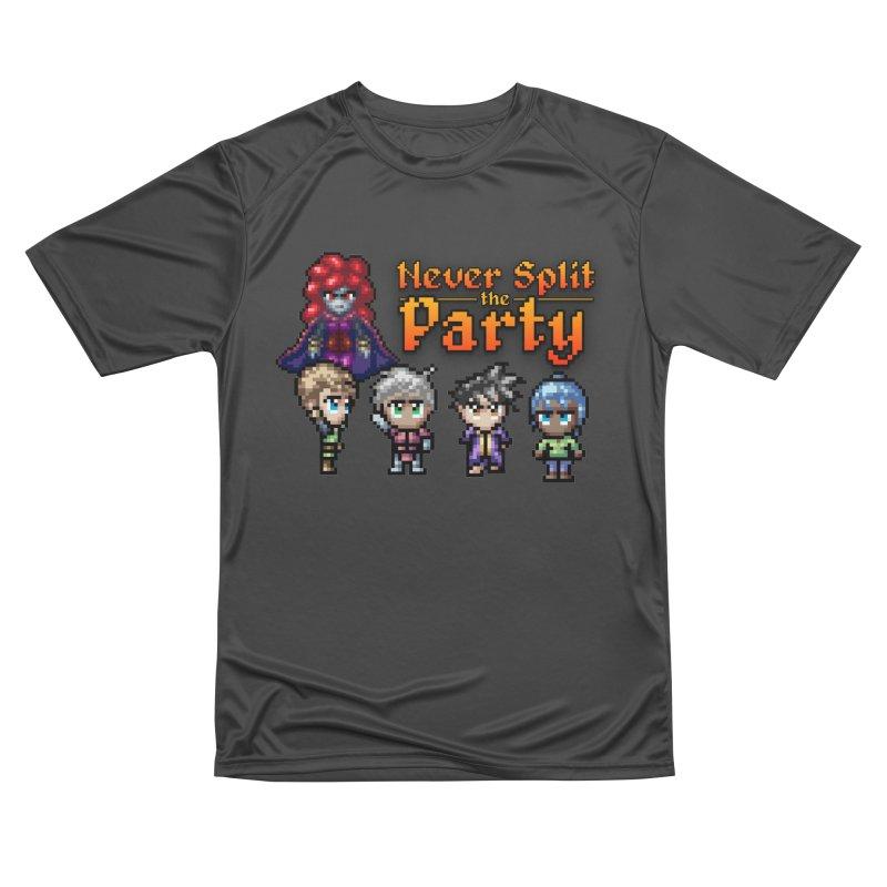 Never Split the Party Merch Women's Performance Unisex T-Shirt by Legend Studio Shop