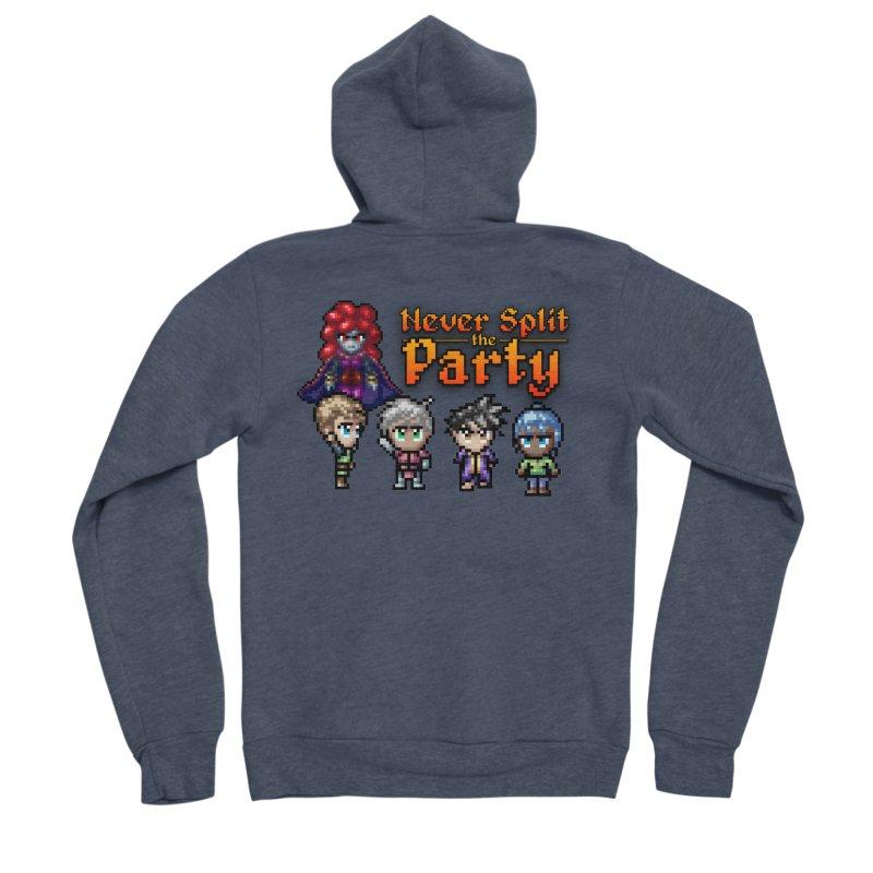 Never Split the Party Merch Men's Sponge Fleece Zip-Up Hoody by Legend Studio Shop