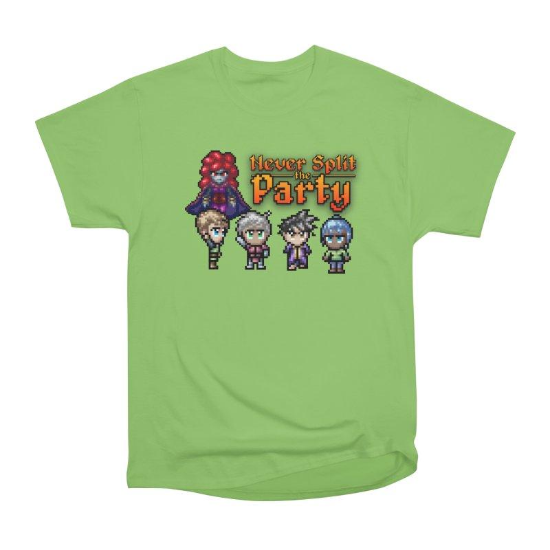 Never Split the Party Merch Women's Heavyweight Unisex T-Shirt by Legend Studio Shop
