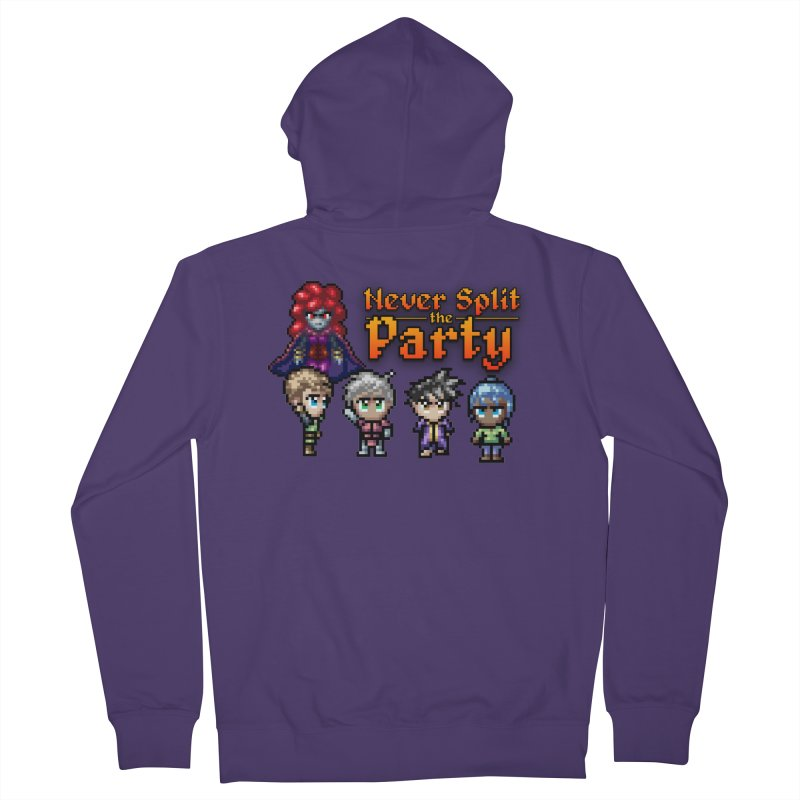 Never Split the Party Merch Women's French Terry Zip-Up Hoody by Legend Studio Shop