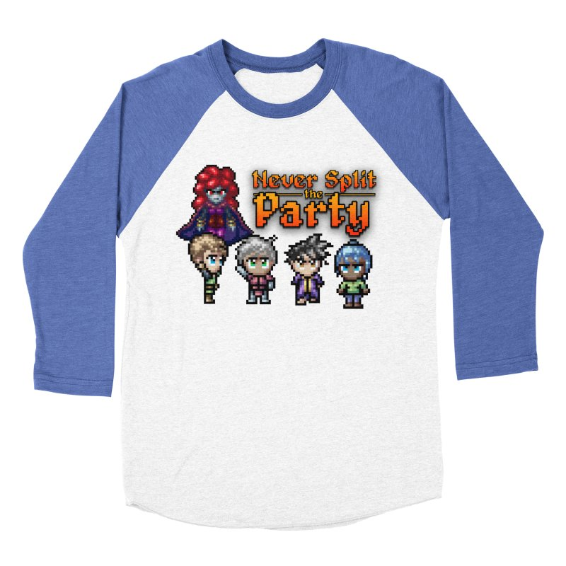 Never Split the Party Merch Women's Baseball Triblend Longsleeve T-Shirt by Legend Studio Shop