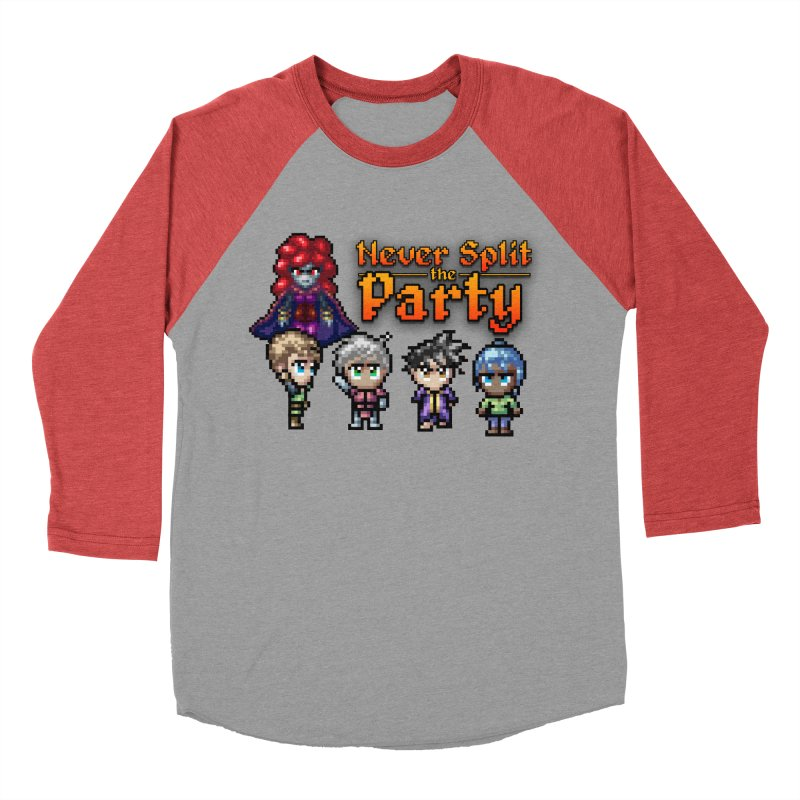 Never Split the Party Merch Men's Baseball Triblend Longsleeve T-Shirt by Legend Studio Shop