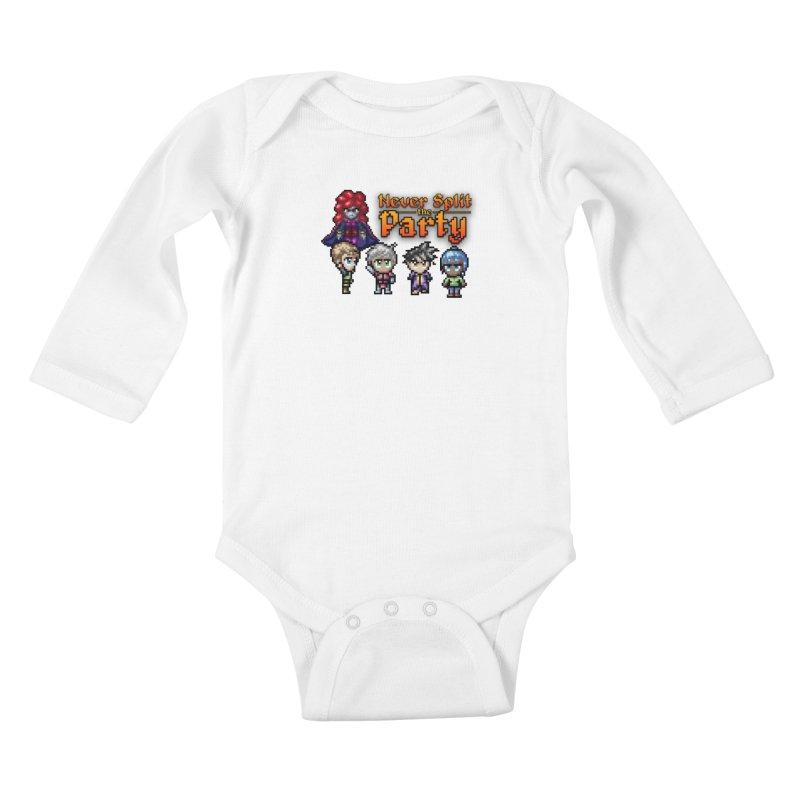 Never Split the Party Merch Kids Baby Longsleeve Bodysuit by Legend Studio Shop