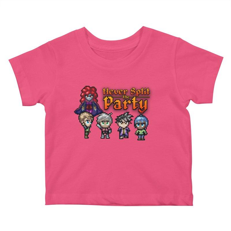Never Split the Party Merch Kids Baby T-Shirt by Legend Studio Shop