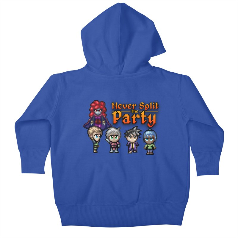 Never Split the Party Merch Kids Baby Zip-Up Hoody by Legend Studio Shop
