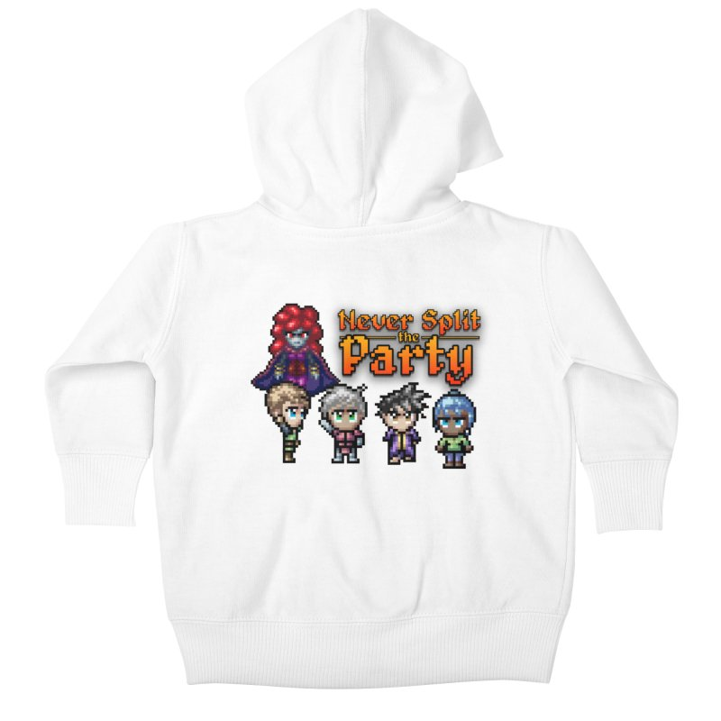 Never Split the Party Merch Kids Baby Zip-Up Hoody by Legend Studio Shop