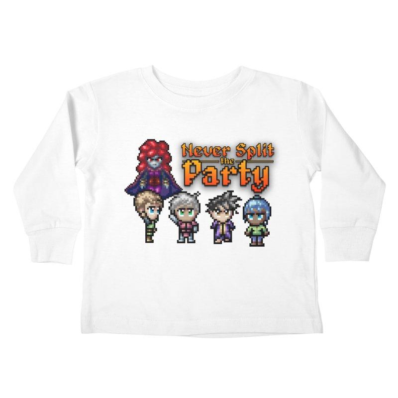 Never Split the Party Merch Kids Toddler Longsleeve T-Shirt by Legend Studio Shop