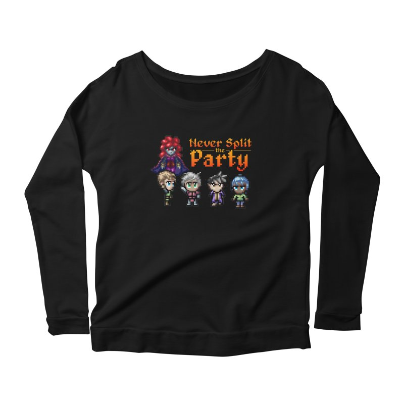Never Split the Party Merch Women's Scoop Neck Longsleeve T-Shirt by Legend Studio Shop