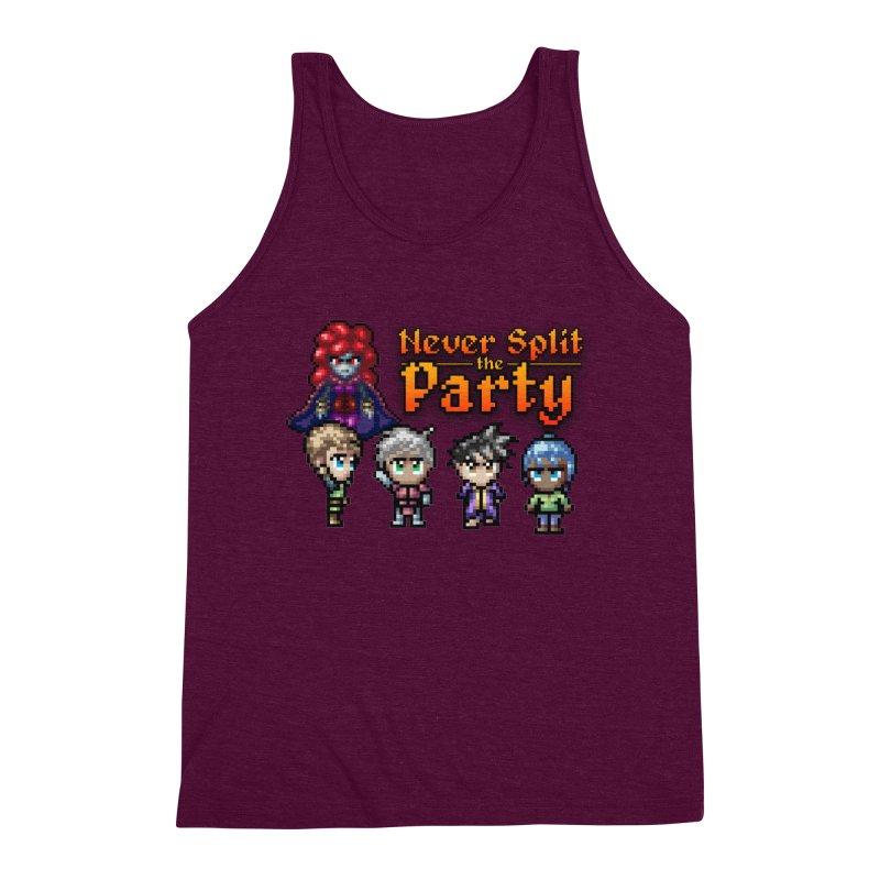 Never Split the Party Merch Men's Triblend Tank by Legend Studio Shop