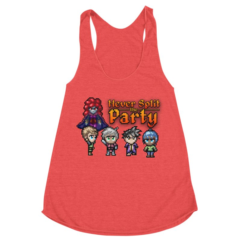 Never Split the Party Merch Women's Racerback Triblend Tank by Legend Studio Shop