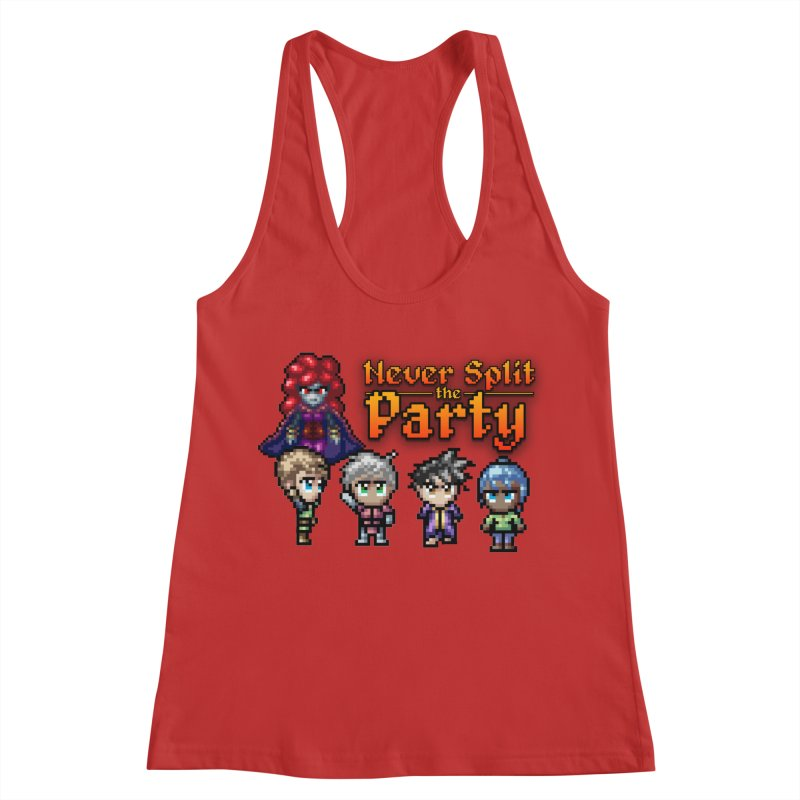 Never Split the Party Merch Women's Racerback Tank by Legend Studio Shop