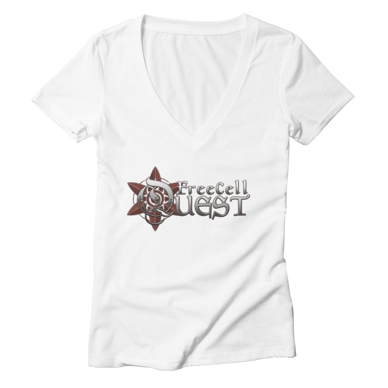 FreeCell Quest Merch Women's Deep V-Neck V-Neck by Legend Studio Shop