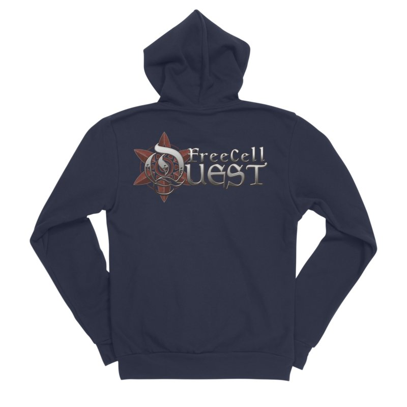 FreeCell Quest Merch Women's Sponge Fleece Zip-Up Hoody by Legend Studio Shop
