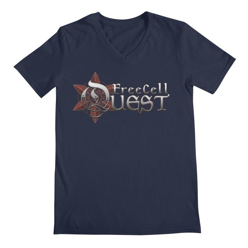 FreeCell Quest Merch Men's Regular V-Neck by Legend Studio Shop