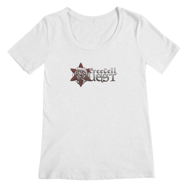 FreeCell Quest Merch Women's Regular Scoop Neck by Legend Studio Shop