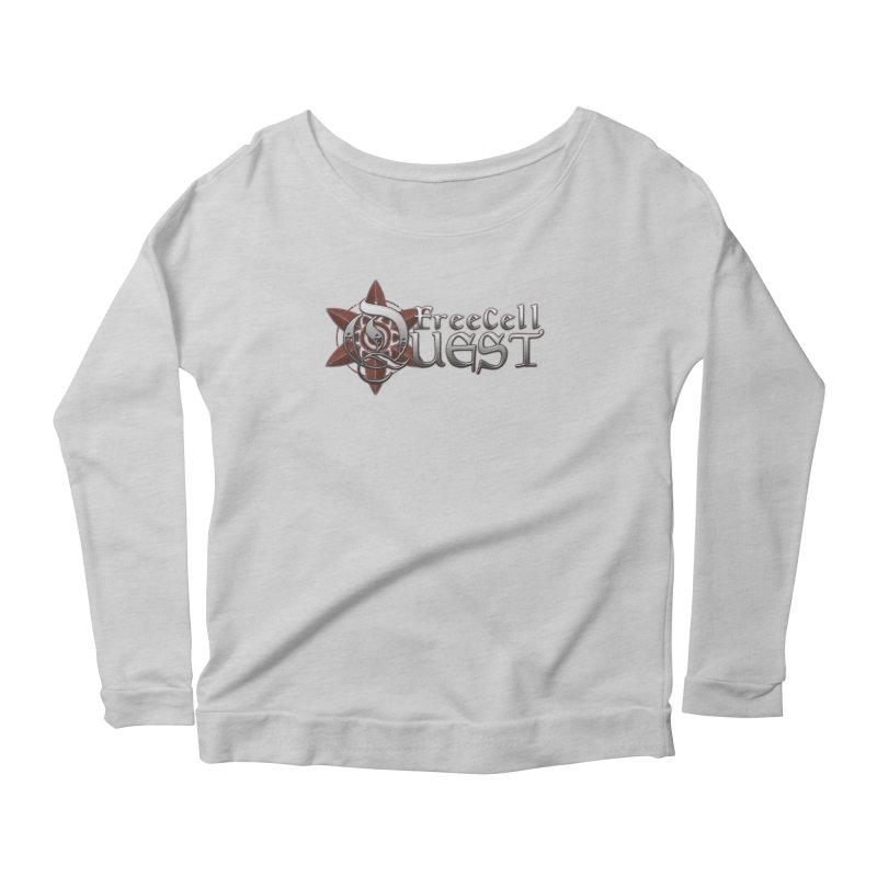 FreeCell Quest Merch Women's Scoop Neck Longsleeve T-Shirt by Legend Studio Shop