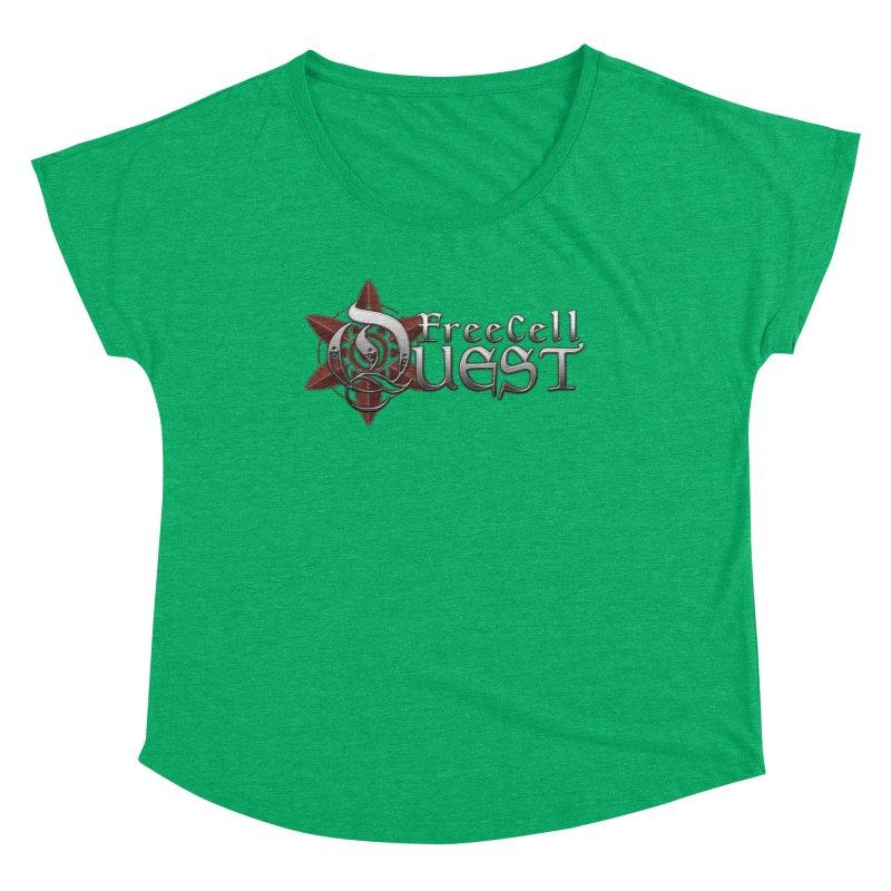FreeCell Quest Merch Women's Scoop Neck by Legend Studio Shop