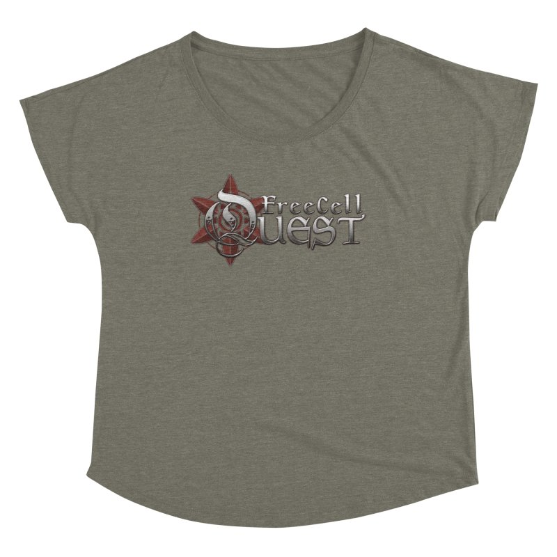 FreeCell Quest Merch Women's Scoop Neck by Legend Studio Shop
