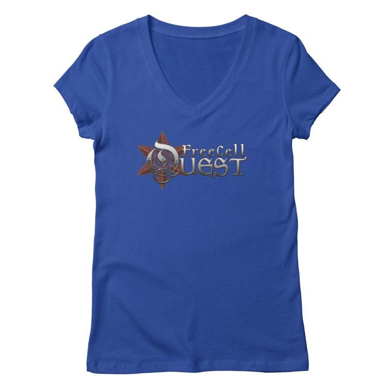 FreeCell Quest Merch Women's Regular V-Neck by Legend Studio Shop