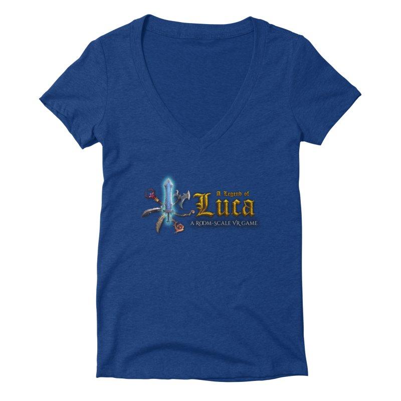 A Legend of Luca Merch Women's V-Neck by Legend Studio Shop