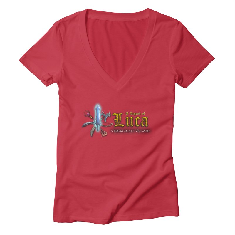 A Legend of Luca Merch Women's Deep V-Neck V-Neck by Legend Studio Shop