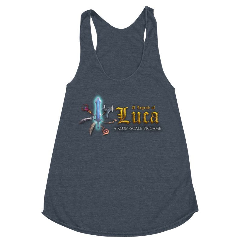 A Legend of Luca Merch Women's Racerback Triblend Tank by Legend Studio Shop