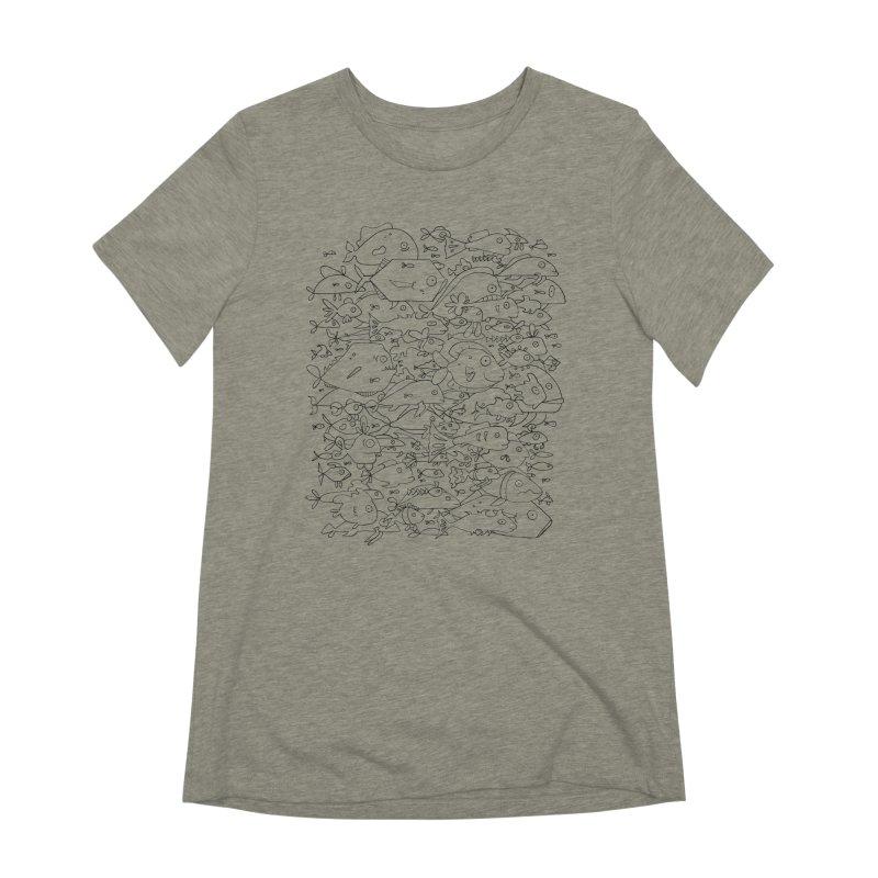 Funky Fish School Women's Extra Soft T-Shirt by Legend Studio Shop