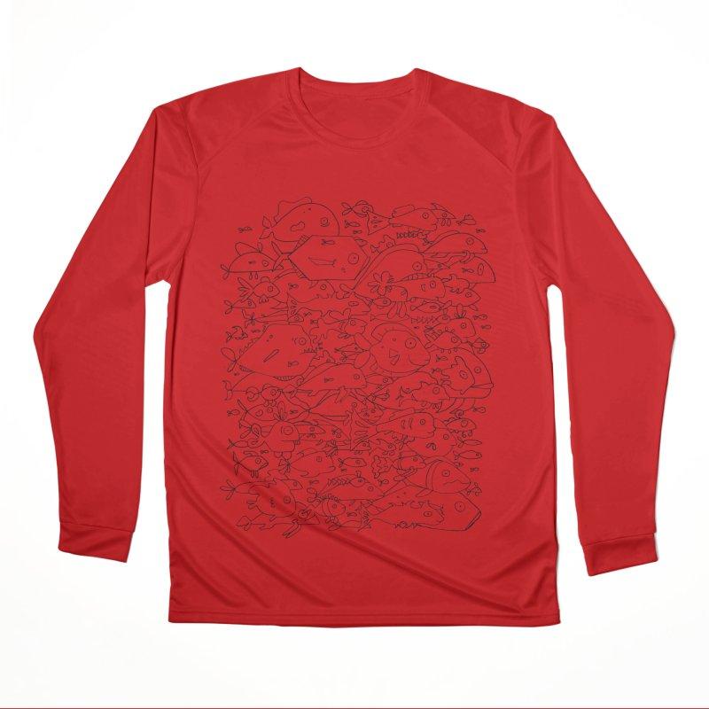 Funky Fish School Women's Performance Unisex Longsleeve T-Shirt by Legend Studio Shop