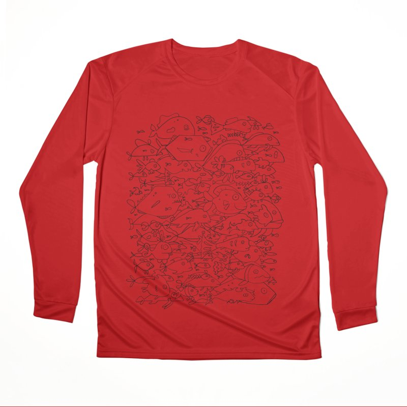 Funky Fish School Men's Performance Longsleeve T-Shirt by Legend Studio Shop