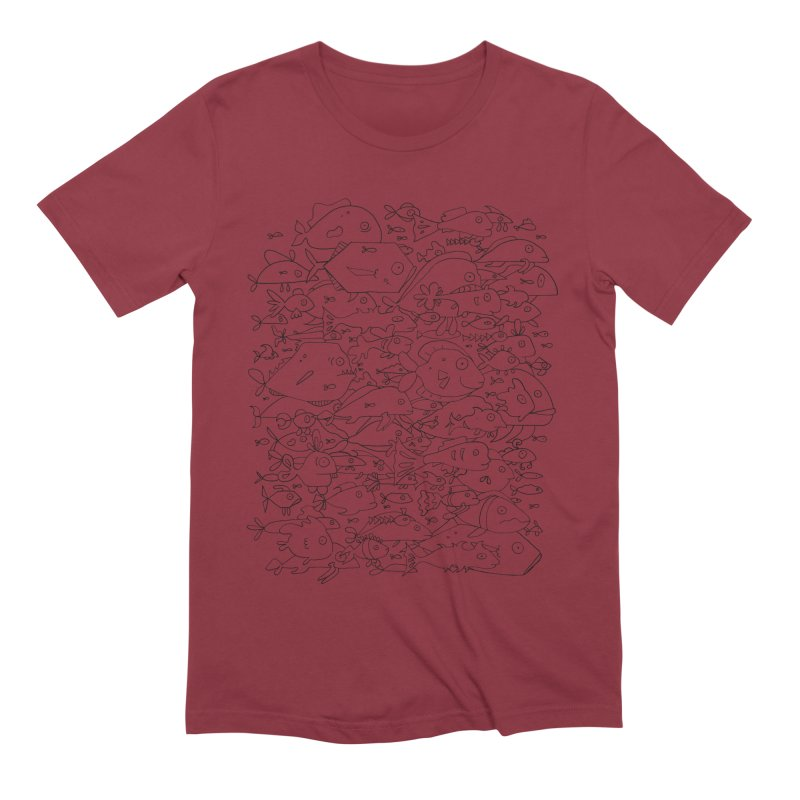 Funky Fish School Men's Extra Soft T-Shirt by Legend Studio Shop