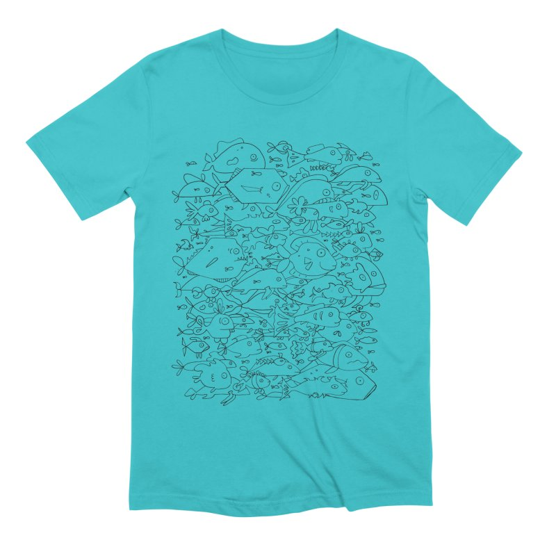 Funky Fish School Men's T-Shirt by Legend Studio Shop